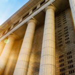 grey marble column details building 2